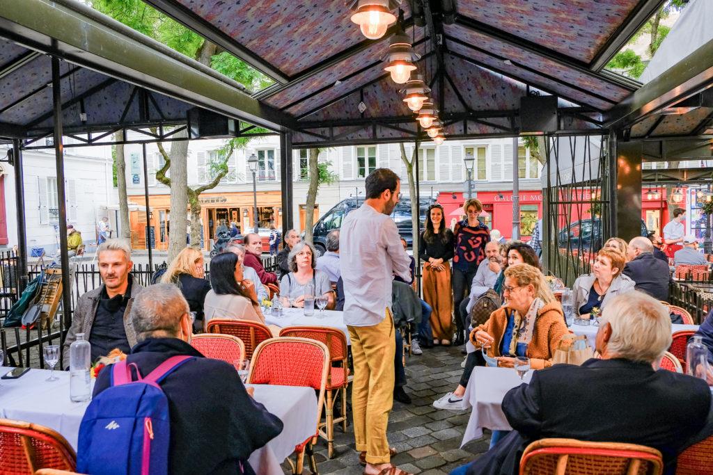 Eductour à Montmartre restaurant au Cadet de Gascogne Patrivia